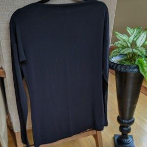 VINCE long sleeve black top